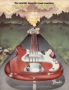 Fender Bass Ad from 1972