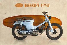 Honda C 70, balinesischer Stil