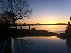 Sunset at Mission Bay, Lake Taupo taken on the drive home after an amazing day spent with good friends, snowboard up Mt. Ruapheu, NZ.