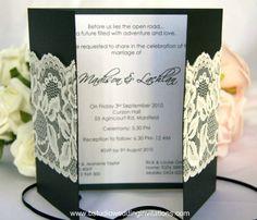 Lace Wedding Invitations - Handmade Wedding Invitations and Matching Stationery ©