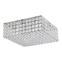 Krystal Ice 11.81-in W Chrome Standard Ceiling Flush Mount Light