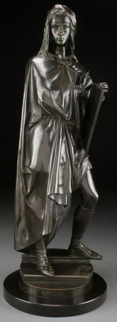FRENCH BRONZE OF RAPHAEL, BELLUSE