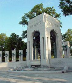 World War II Memorial Fountain & Inscriptions