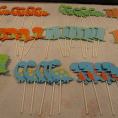 Dinosaur Birthday Party Cupcake Toppers