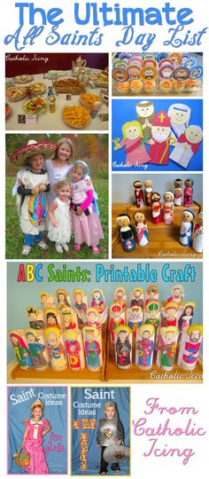 It's that time of year again, time to plan your All Saints' Day party! I rounded up all of my Saint crafts, food ideas, costume tutorials, printables, and more in one place- this page! …