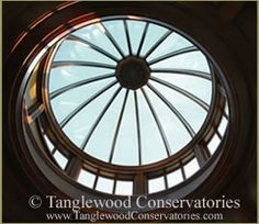 Custom dome design by Tanglwood Conservatories. Browse our gallery of glass and copper domes, wood and bonze domes and custom cupolas. Dome Ceiling, Glass Ceiling, Compact House, Ap Studio Art, Garden Gazebo, Dome House, Roof Light, Capitol Building, Curved Glass