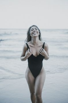 Black One Piece Beach Style by Kim Akrigg