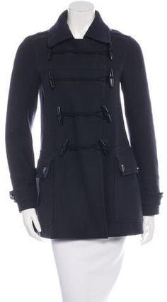 Burberry Brit Wool Toggle Coat Burberry Brit, Wool, Stylish, Blouse, Fashion, Blouse Band, Moda, La Mode, Fasion