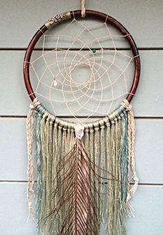 Large Bohemian Handmade Peacock Dream Catcher Oasis