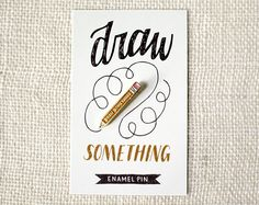 enamel pin  • 1.6″ x .21″ • goldfinish • two rubberclutches • Wit & Whistle backstamp