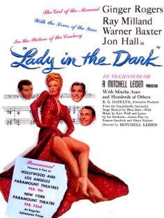 """""""Lady in the Dark"""", 1944. Directed by Mitchell Leisen and starring Ginger Rogers and Ray Milland"""