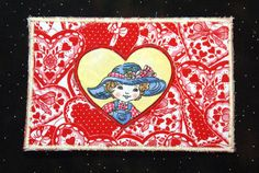 Fabric Postcard Valentines