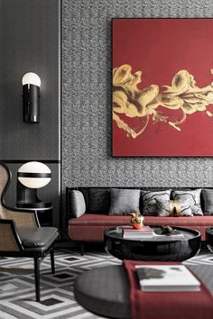 Jingya high-grade gray, oriental house with modern aesthetics and traditional culture essence Modern Chinese Interior, Contemporary Interior, Interior Design Minimalist, Home Interior Design, Exterior Design, Oriental Design, Living Room Interior, Interior Design Inspiration, Furniture Design