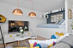 Apartamento que mostra a importância das almofadas na decoração - limaonagua