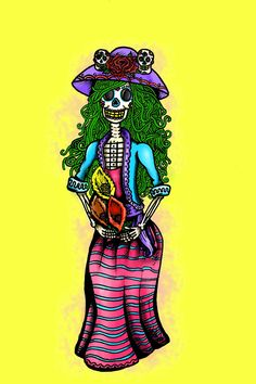 Beautiful day of the dead art.