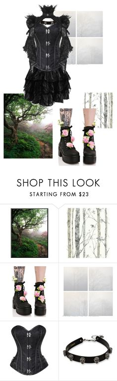 """""""Goth."""" by dress-me-goth ❤ liked on Polyvore featuring RoomMates Decor, Sugarbaby and Betsey Johnson"""