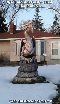 This would be perfect for our neighbour's cedar. Light AND a dragon