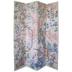 French Hand Blocked &- Painted 6 panel Wallpaper screen | Furniture ...