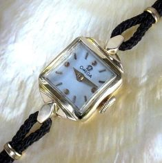 Like our mother's, except hers wasn't gold, perhaps stainless steel. Ladies Omega Vintage Swiss Made Cocktail Dress Watch A+ Art Deco Watch, Vintage Watches Women, Oldies But Goodies, Vintage Omega, Square Watch, Omega Watch, Solid Gold, 1950s, Lady