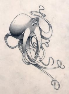 Octopus concept sketch by olivier tossan Character Design References, Character Art, Illustrations, Illustration Art, Animal Drawings, Art Drawings, Octopus Art, Drawn Art, Poses References
