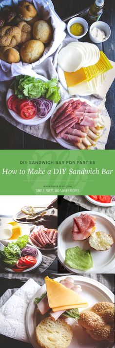 How to make a DIY sandwich bar for parties from @sweepthi