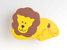 Löwe - Möbelgriff / Möbelknopf für Kinderzimmer