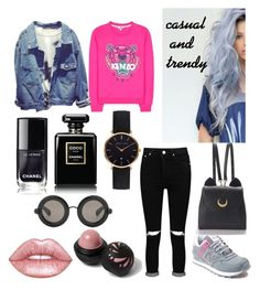 """""""casual"""" by xliciousfull ❤ liked on Polyvore featuring Boohoo, New Balance, Kenzo, WithChic, Chanel, Abbott Lyon, Christopher Kane, Lime Crime and River Island"""