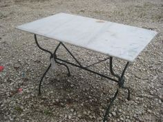 Tons of outdoor garden tables - Marble top bistro table