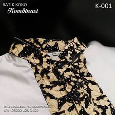 BATIK KOMBINASI, Baju Koko, Koko Batik Kombinasi, Seragam Batik, Batik Pria…