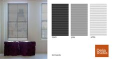 Dot Bands, a new pattern from Delia Shades. Get a free estimate by going to http://www.deliashades.com/quote.php #DeliaShades #RollerShades #Shades #SolarShades #Dots #Bands #Patterns