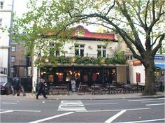 The Swan.  A pub in London that has delicious fish & chips!  It's also right across the street from Hyde Park.