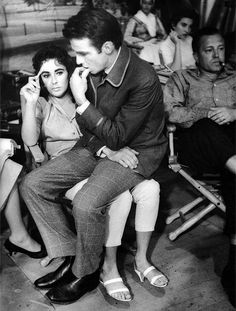 """barbarastanwyck: """" You know how it is when you love somebody terribly but you can't describe why? That's how I love Bessie Mae. """" -Montgomery Clift on Elizabeth Taylor """" """""""