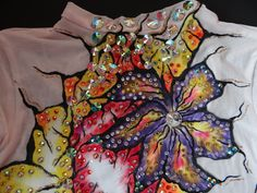my work, rhythmic leotard made by Dreamwing Leotards - small details :)