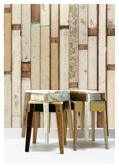 We are proud to announce that SCP East & West stores are now stocking the Scrapwood Collection by Dutch designer, Piet Hein Eek. Piet Hein Eek was born in Holland in 1967 and graduated from the Academy for Industrial Design in Eindhoven in While … Wood Effect Wallpaper, Look Wallpaper, Rustic Wallpaper, Wall Wallpaper, Wallpaper Online, Eclectic Wallpaper, Office Wallpaper, Cream Wallpaper, Amazing Wallpaper