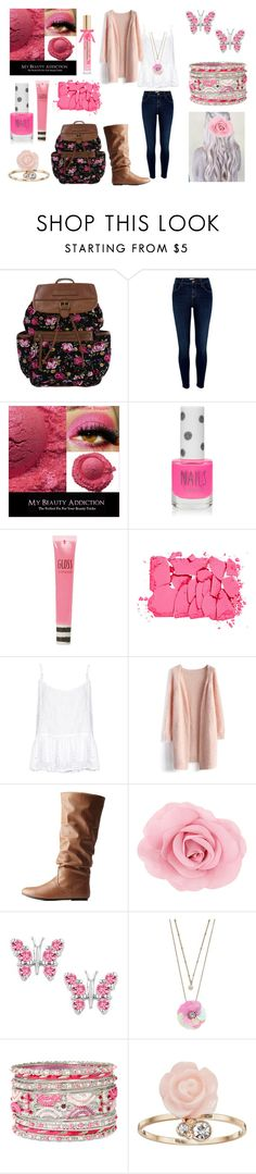 """Girly School Outfit"" by holly32196 ❤ liked on Polyvore featuring River Island, Topshop, NARS Cosmetics, Velvet by Graham & Spencer, Chicwish, Charlotte Russe, LC Lauren Conrad, Mixit and Victoria's Secret"
