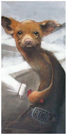 Bezt : Bobik  oil and acrylics on canvas, 2010. #bezt http://www.widewalls.ch/artist/bezt/