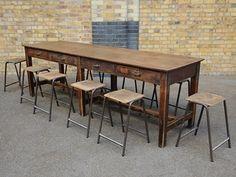 A reclaimed laboratory school bench | Pour l'atelier | Pinterest ...