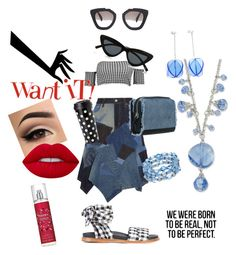 """""""Want It"""" by gigiglow ❤ liked on Polyvore featuring Marques'Almeida, Junya Watanabe, Boohoo, Kate Spade, Prada, Lime Crime, Britney Spears, Le Specs and 1928"""
