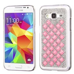 Insten Slim Hard Snap-on Diamond Bling Phone Case Cover For Samsung Galaxy Core Prime
