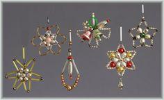 TOP Konvolut 6 Gablonz Art Déco um 1920 - 1960 Glas Sterne Glocken   eBay
