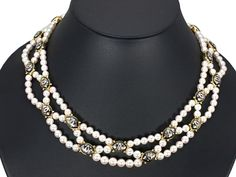 Mikimoto K18, necklace, ピクウェ、P. 6.5-5mm, D 0.17ct, 43cm.