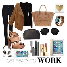 """""""back to work."""" by chindyocta on Polyvore featuring Oasis, Giorgio Armani, Steve Madden, CÉLINE, Michael Kors, Yves Saint Laurent, Bobbi Brown Cosmetics, 3.1 Phillip Lim, Frends and Oliver Gal Artist Co."""