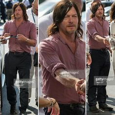 Norman at @usopen yesterday @bigbaldhead #normanreedus #usopen #gettyimages