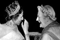 Queen Louise of Sweden, nee Mountbatten, and Lady Clementine
