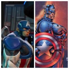 Glad Capcom based their Captain America model on actual comic art. Just wish it wasn't Liefeld's