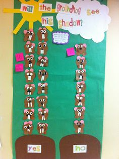 Great predicting and graphing activity for Groundhog Day. Must do Groundhog Day activities. I am from Punxsutawney after all! Kindergarten Groundhog Day, Groundhog Day Activities, Graphing Activities, Holiday Activities, Preschool Activities, Kindergarten Rocks, Kindergarten Classroom, Ground Hog Day Crafts, Classroom Crafts