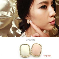 Aliexpress.com : Buy 72045 accessories brief bordered pink rectangle stud earring earrings female from Reliable earrings sterling suppliers on Jessie's shop. $4.35
