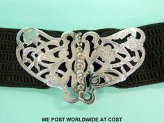 An Edward VII Art Nouveau hallmarked silver peirced belt buckle formed as a butterfly Birmingham 1903