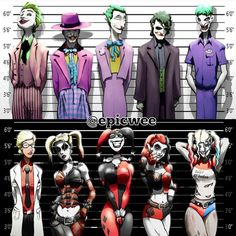 """""""Awesome pic of #Joker and #HarleyQuinn through the years by @epicwee   #amazing #talent #DCComics #DC #DCU #DCUniverse #comics #comicbooks #ComicArt…"""""""