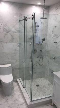 Awesome Bathroom Glass Enclosure Frameless and Shower Doors Bathroom Design Small, Bathroom Layout, Bathroom Interior Design, Modern Bathroom, Master Bathroom, Bathroom Ideas, Bathroom Hacks, Glass Shower Doors, Glass Bathroom